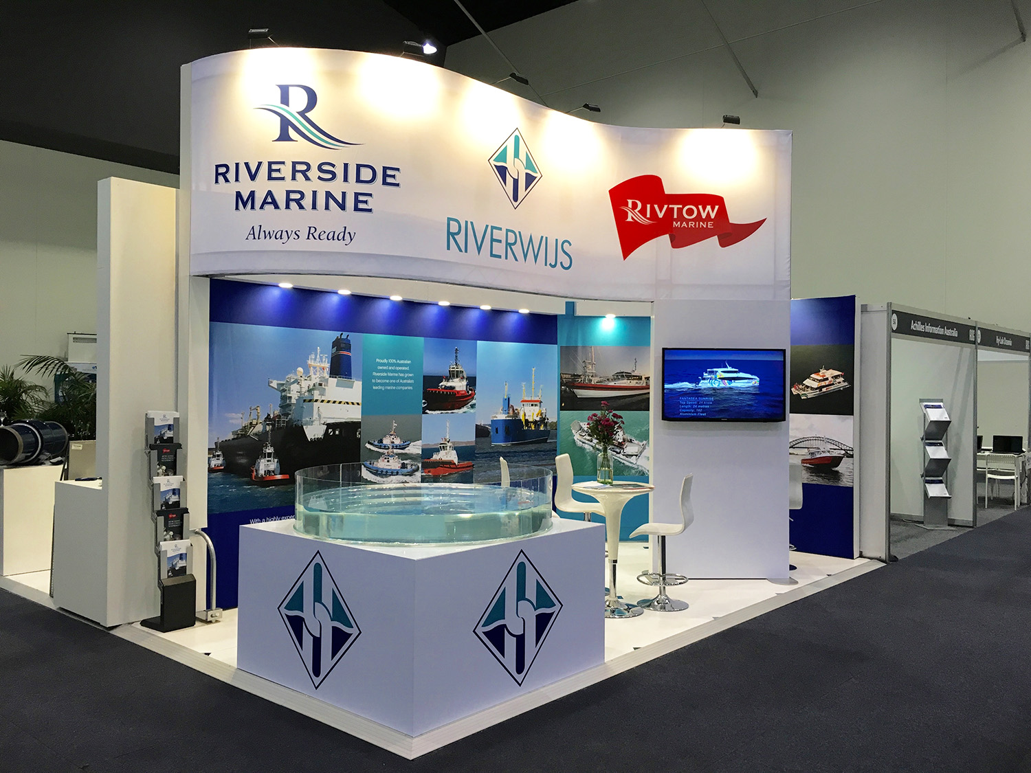Exhibition Stand Builders Perth : Exhibition display stands booths for trade show events. ve graphics